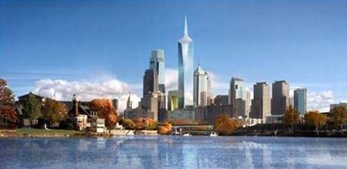 جدیدترین و بلندترین آسمانخراش شهر فیلادلفیا بر رقیبان بلندقامت خود چیره شد!